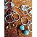 Silver and Stone Earings