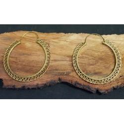 Brass Earrings Large Hoop 52mm