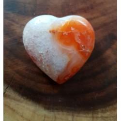Carnelian Stone Heart 43mm in width
