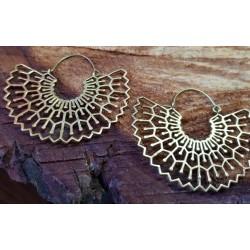 Brass earings. 58mm in width